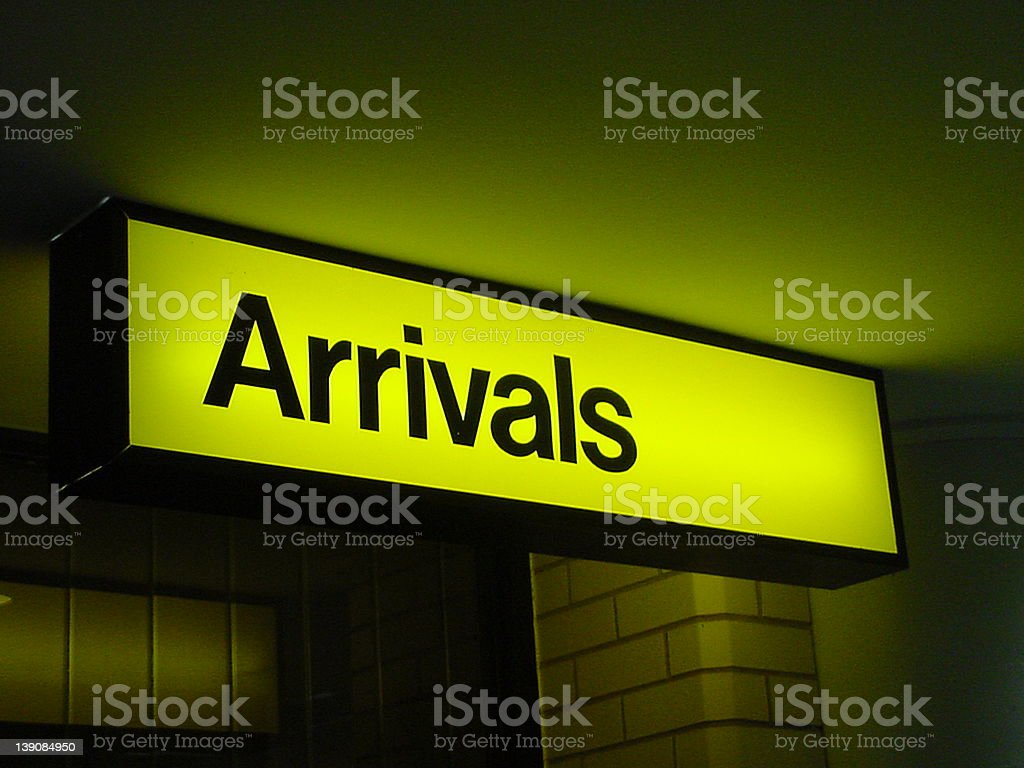 Airport Arrivals royalty-free stock photo