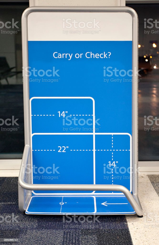 Airport Bag Check stock photo