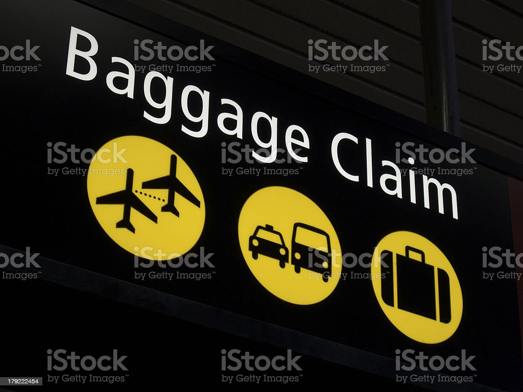Airport Baggage claim stock photo