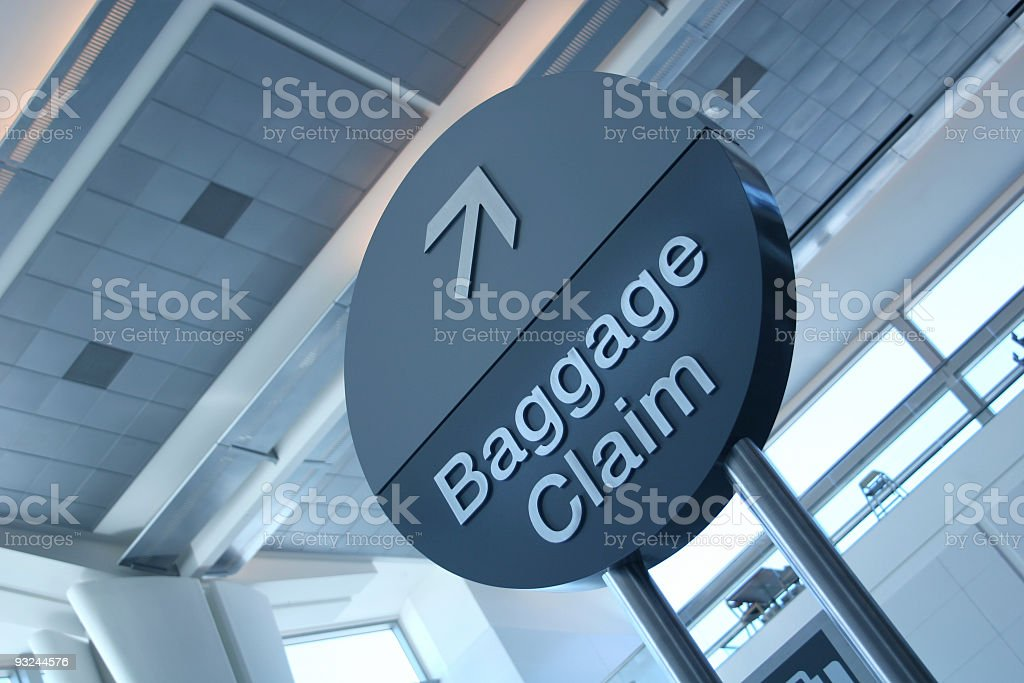airport baggage sign royalty-free stock photo