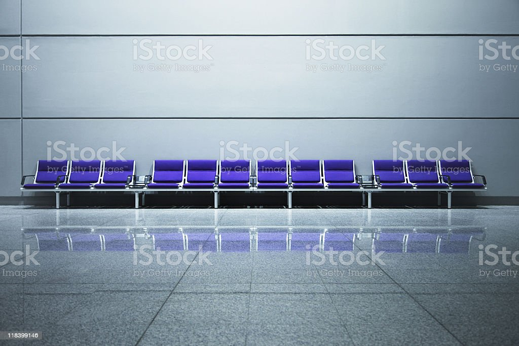 Airport Bench stock photo