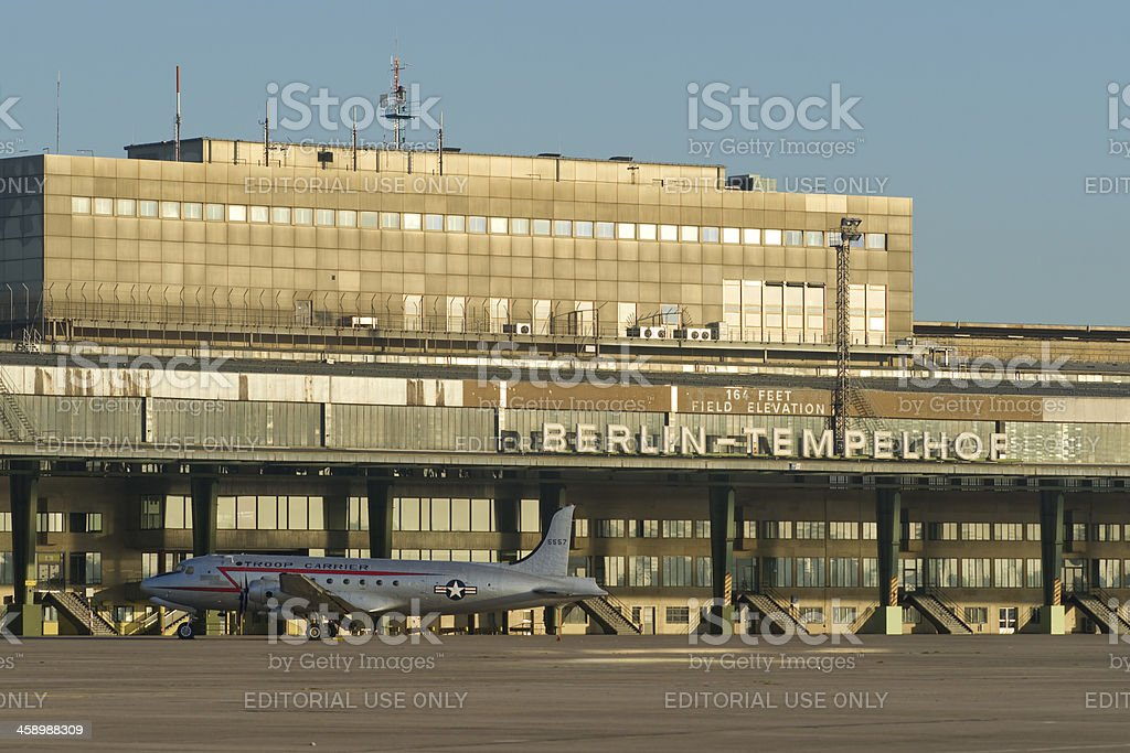 Airport Berlin-Tempelhof stock photo