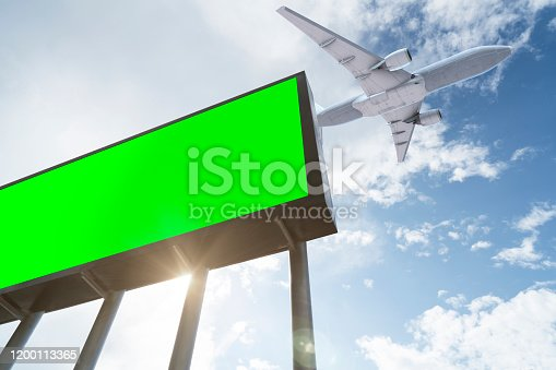 Airplane, Airport, Digital Signage, Billboard, Outdoors