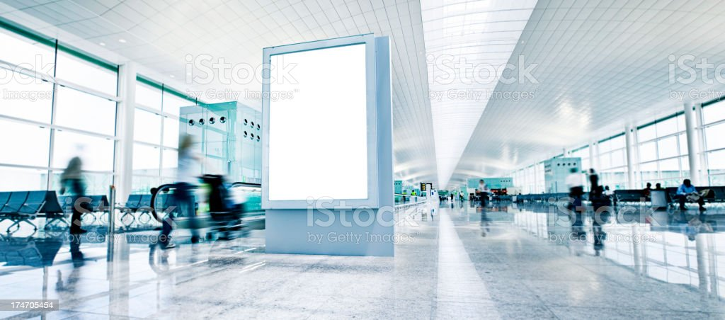 airport billboard stock photo