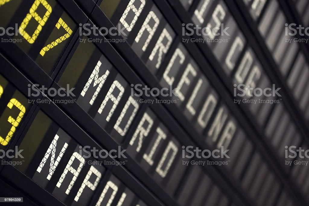 Airport Board royalty-free stock photo