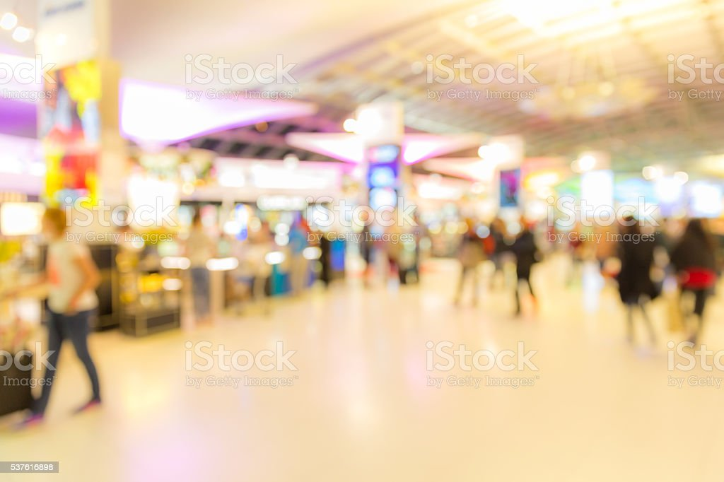airport boarding area Blurred background stock photo