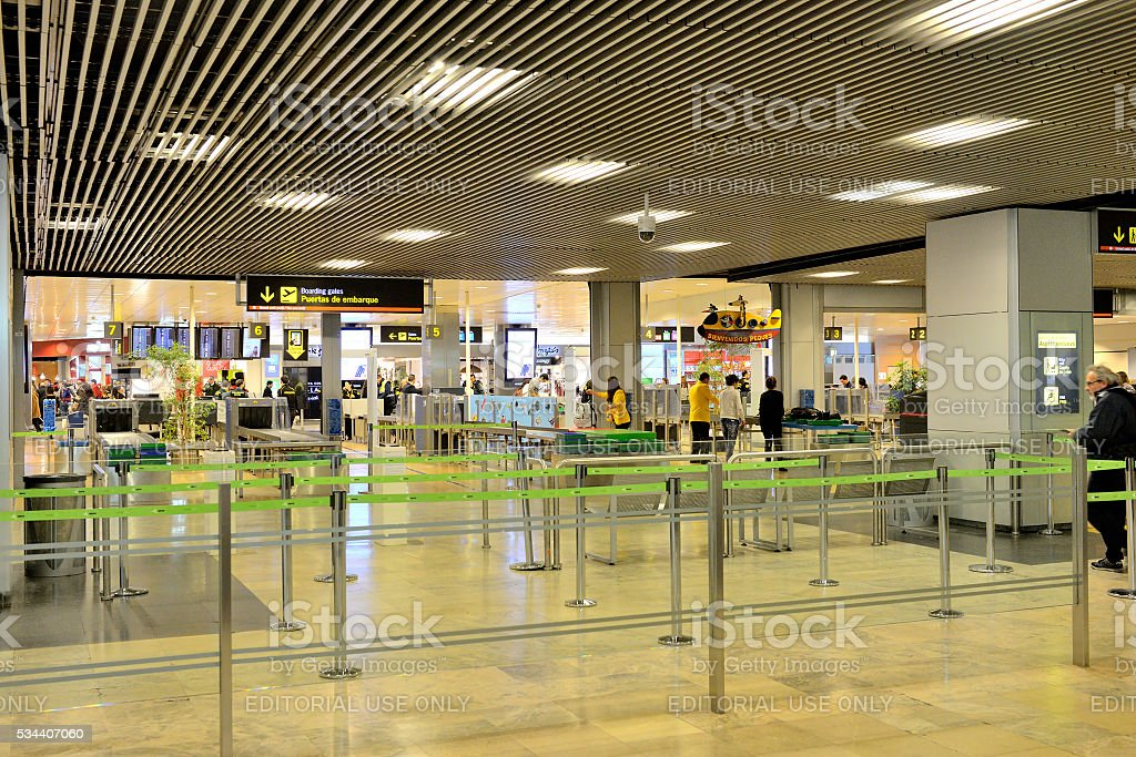 Airport Boarding Gates stock photo
