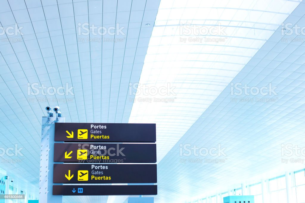 Airport boards stock photo