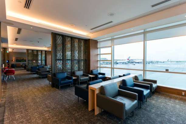 Airport Business Lounge stock photo
