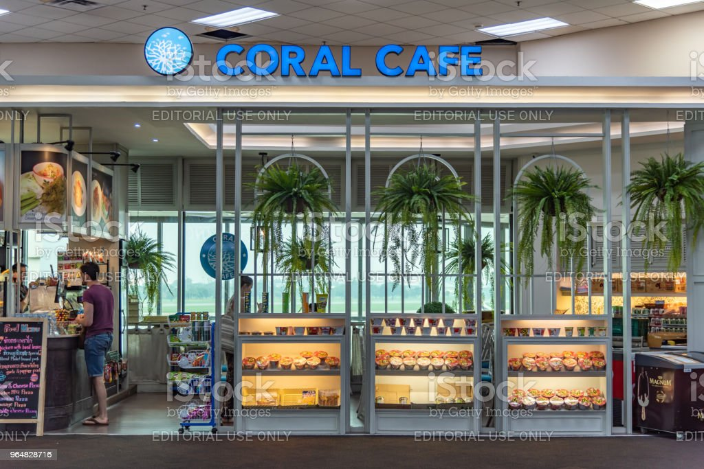 airport cafe royalty-free stock photo