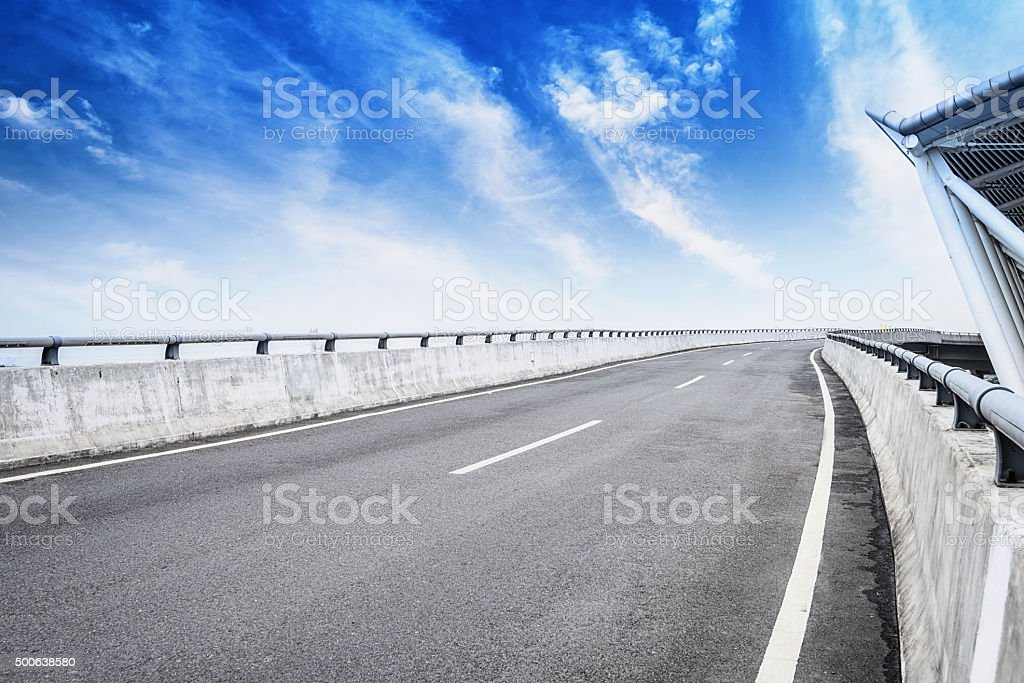 Airport car road stock photo