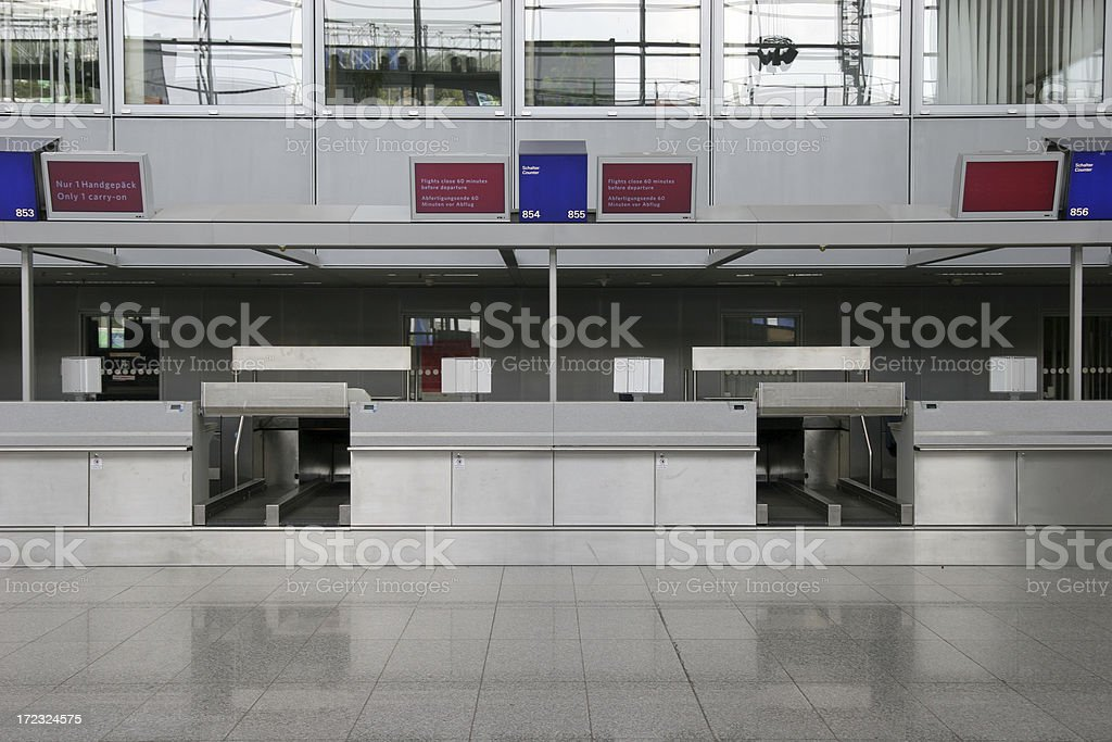 Airport check in counter royalty-free stock photo