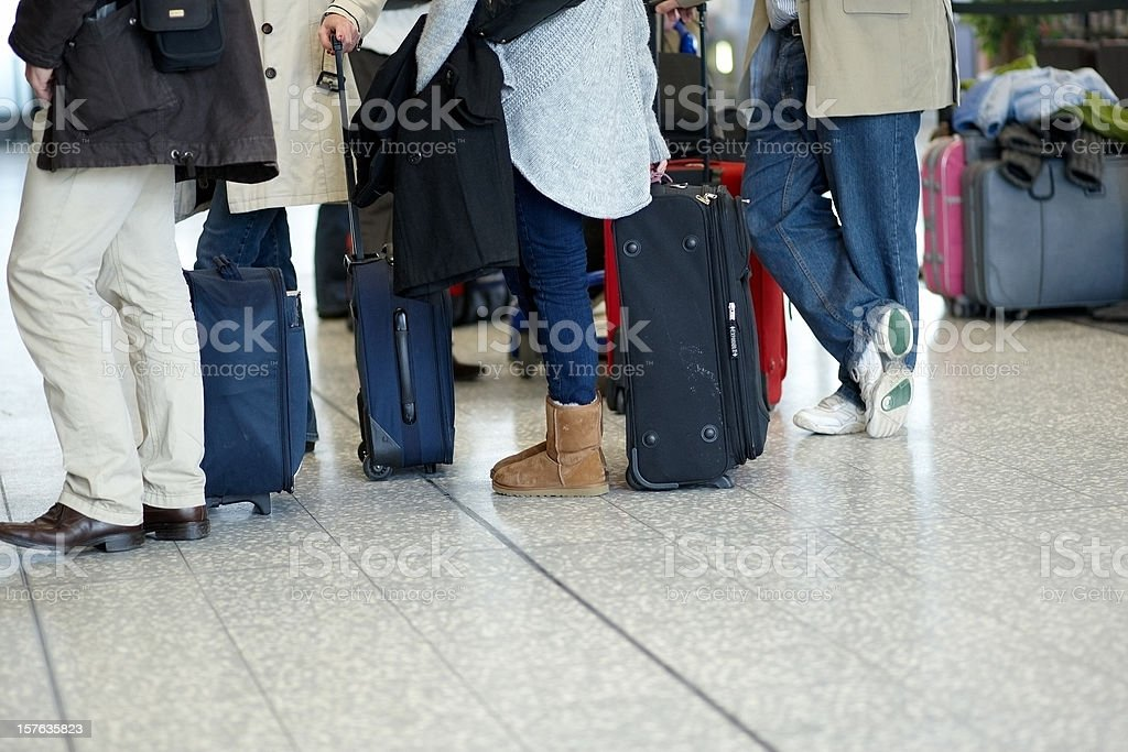 Airport check in line royalty-free stock photo