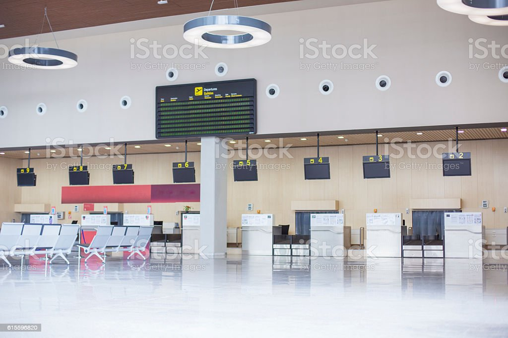 Airport Check In Lounge stock photo