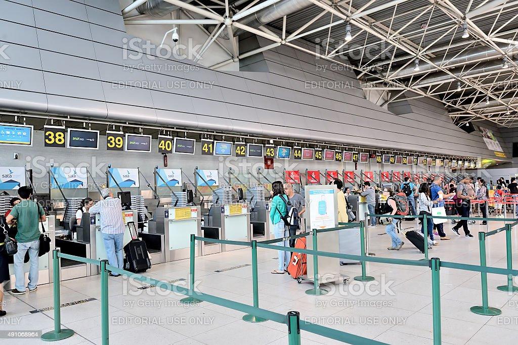 Check-In aeroporto - foto de acervo