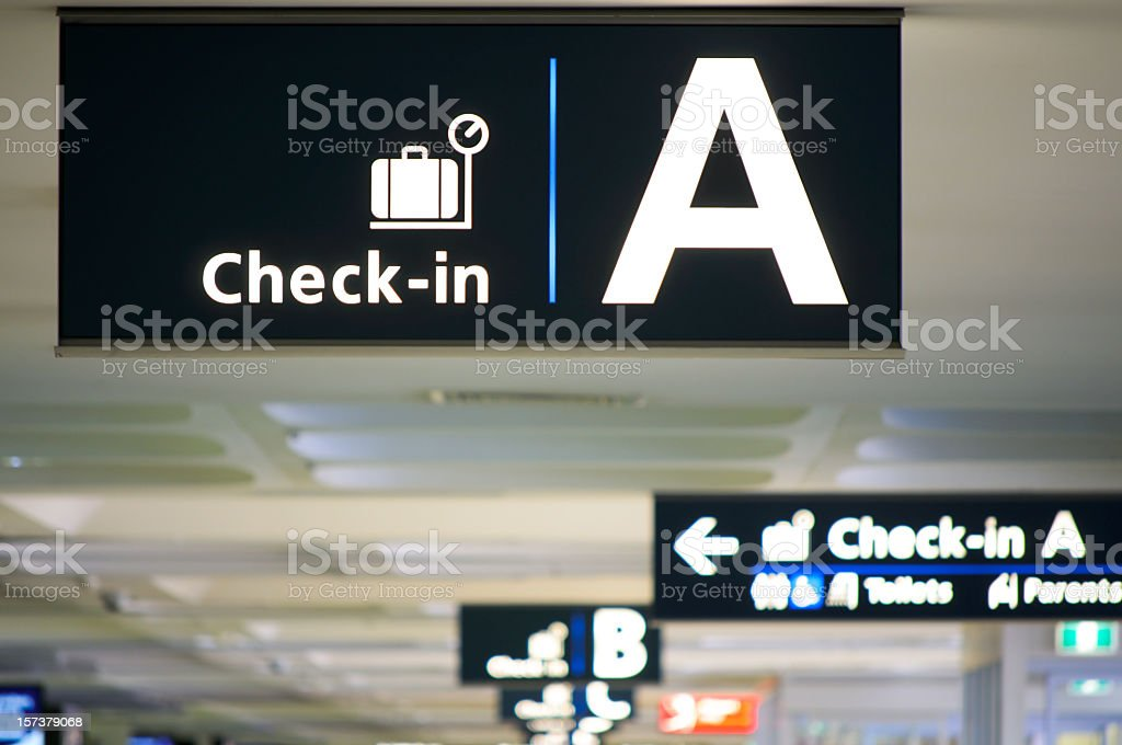 Airport Check-in Area royalty-free stock photo