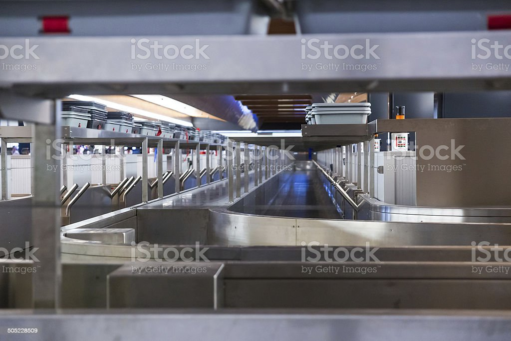 Airport Check-in Conveyor Belt royalty-free stock photo