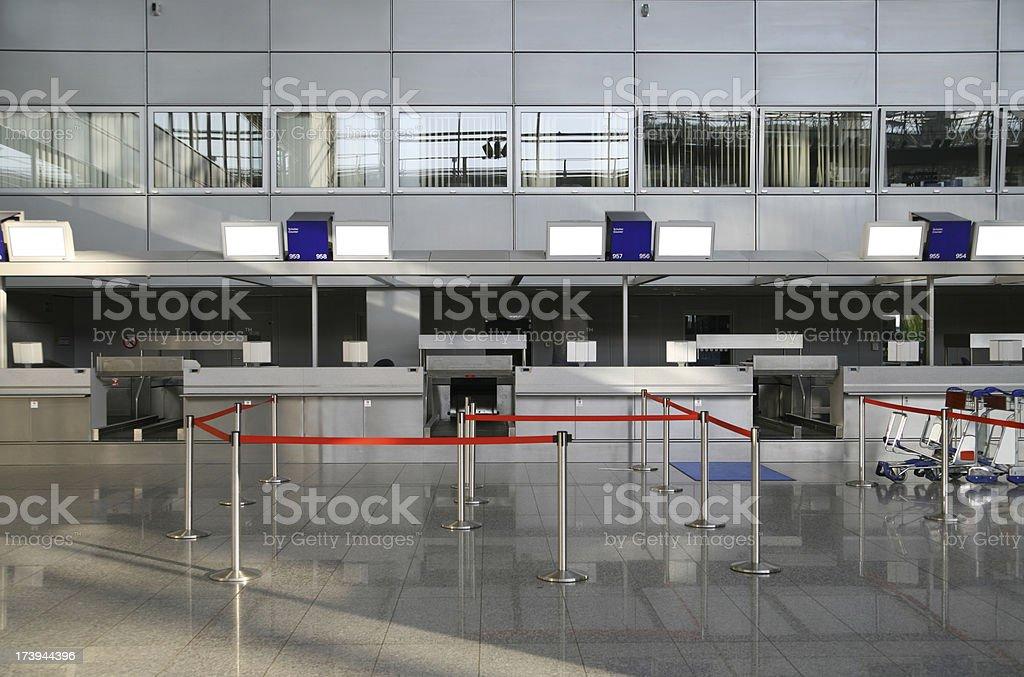 Airport checkin counter stock photo