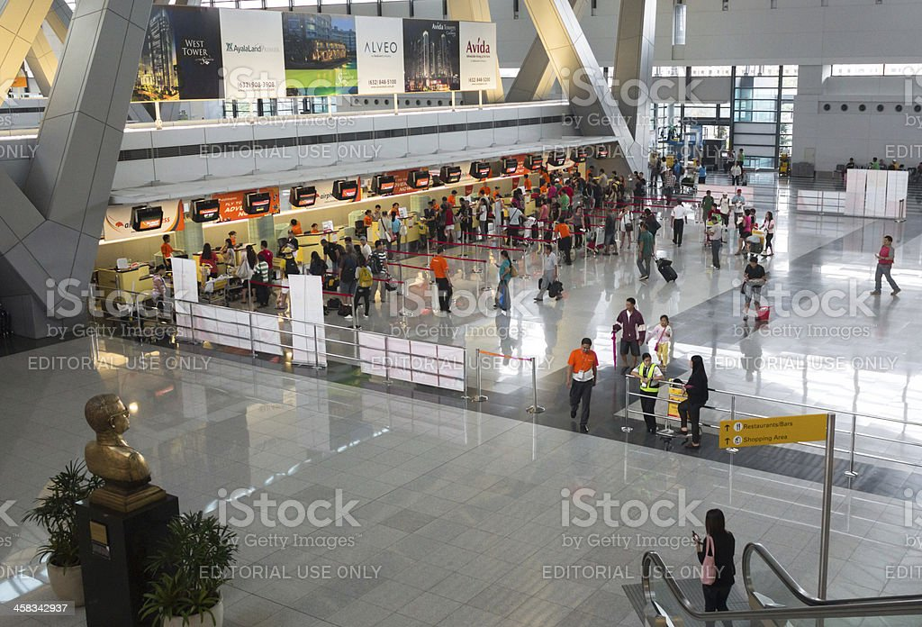 Airport check-in counters royalty-free stock photo