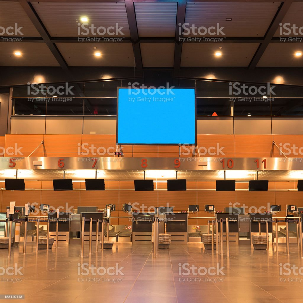 Airport Check-in Counters Terminal stock photo