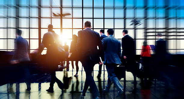 Airport Commuter Business Travel Tour Vacation Concept stock photo