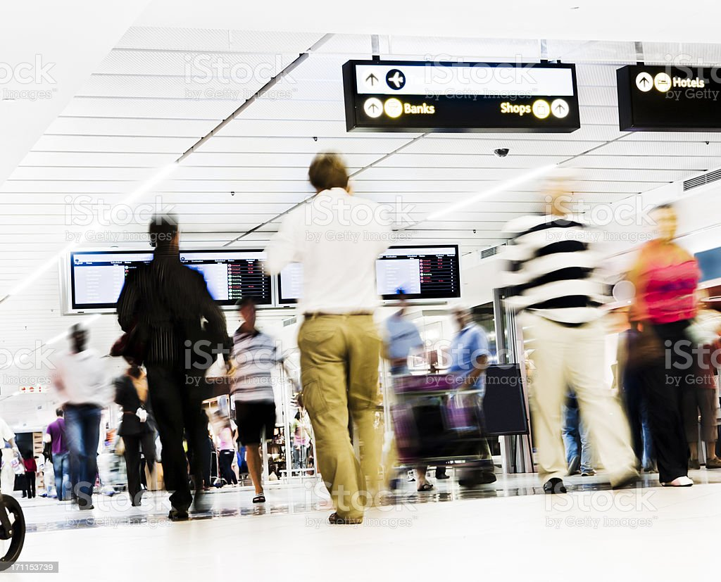 Airport concourse mayhem royalty-free stock photo