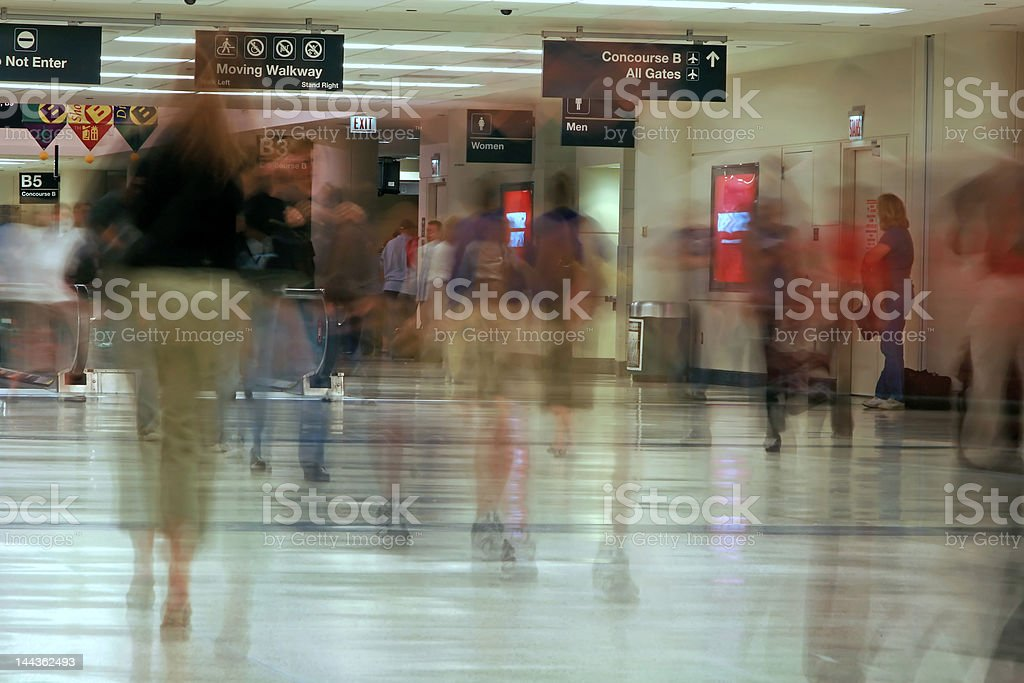 Airport Concourse royalty-free stock photo