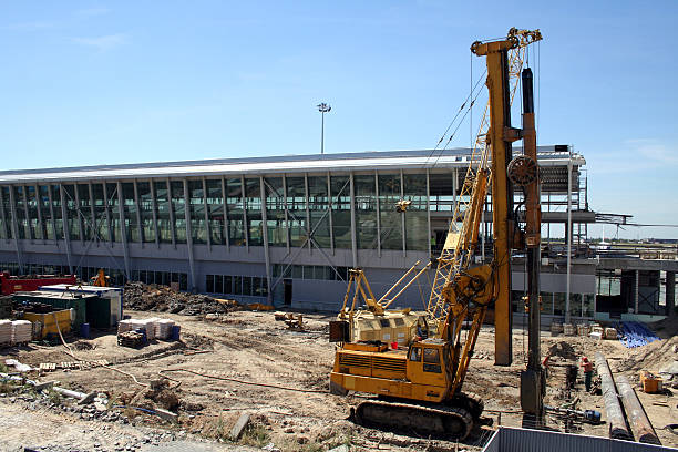 Airport construction #1 stock photo
