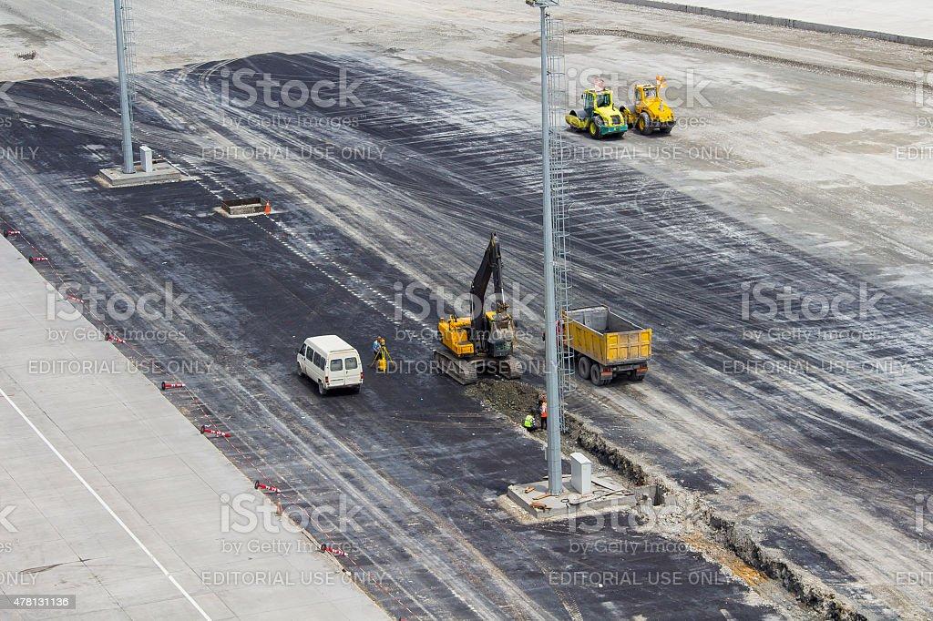 airport construction stock photo