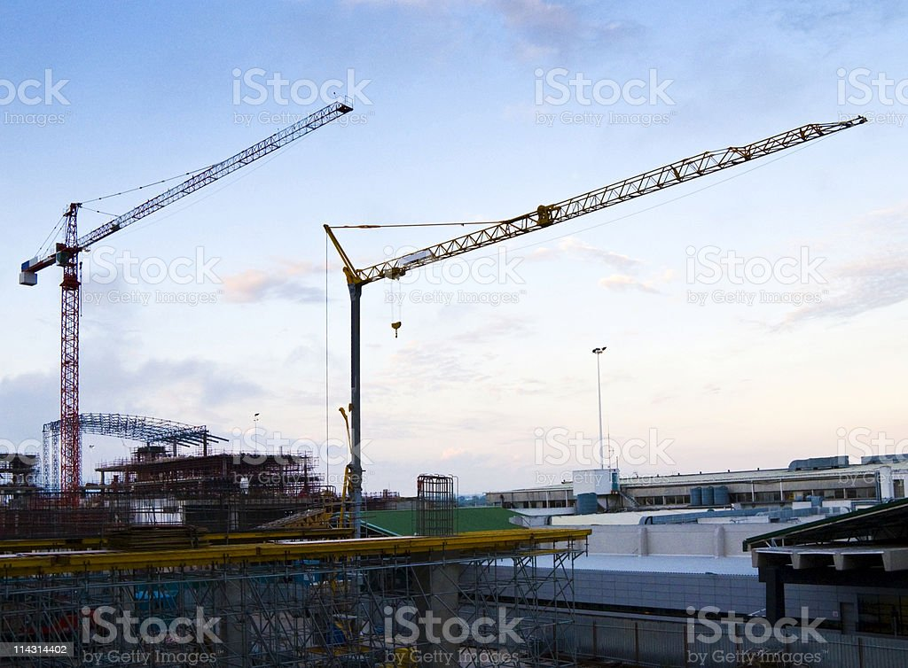 Airport construction site stock photo