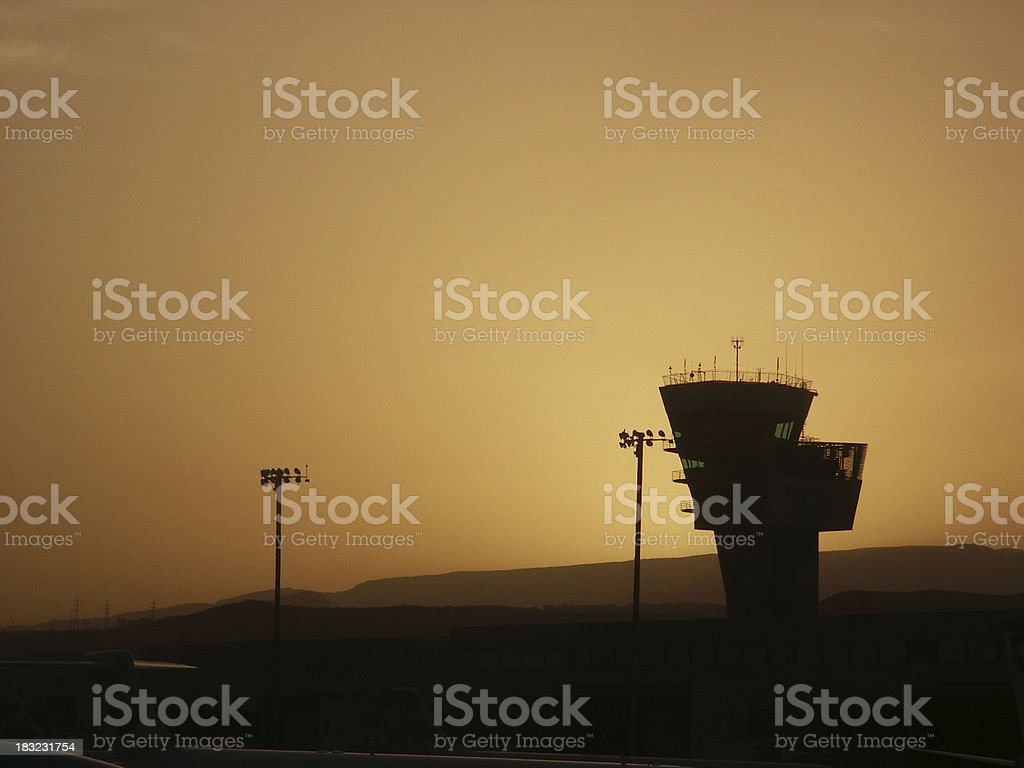 Airport Control Tower royalty-free stock photo