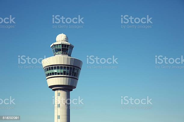Airport Control Tower Stockfoto en meer beelden van Amsterdam
