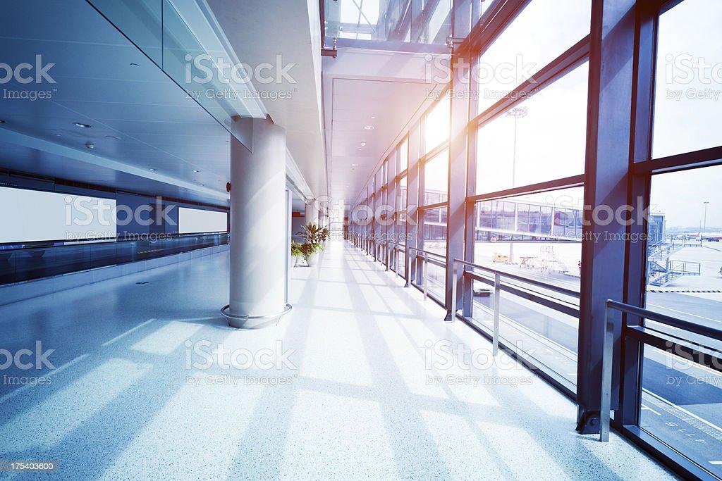 Airport corridor royalty-free stock photo