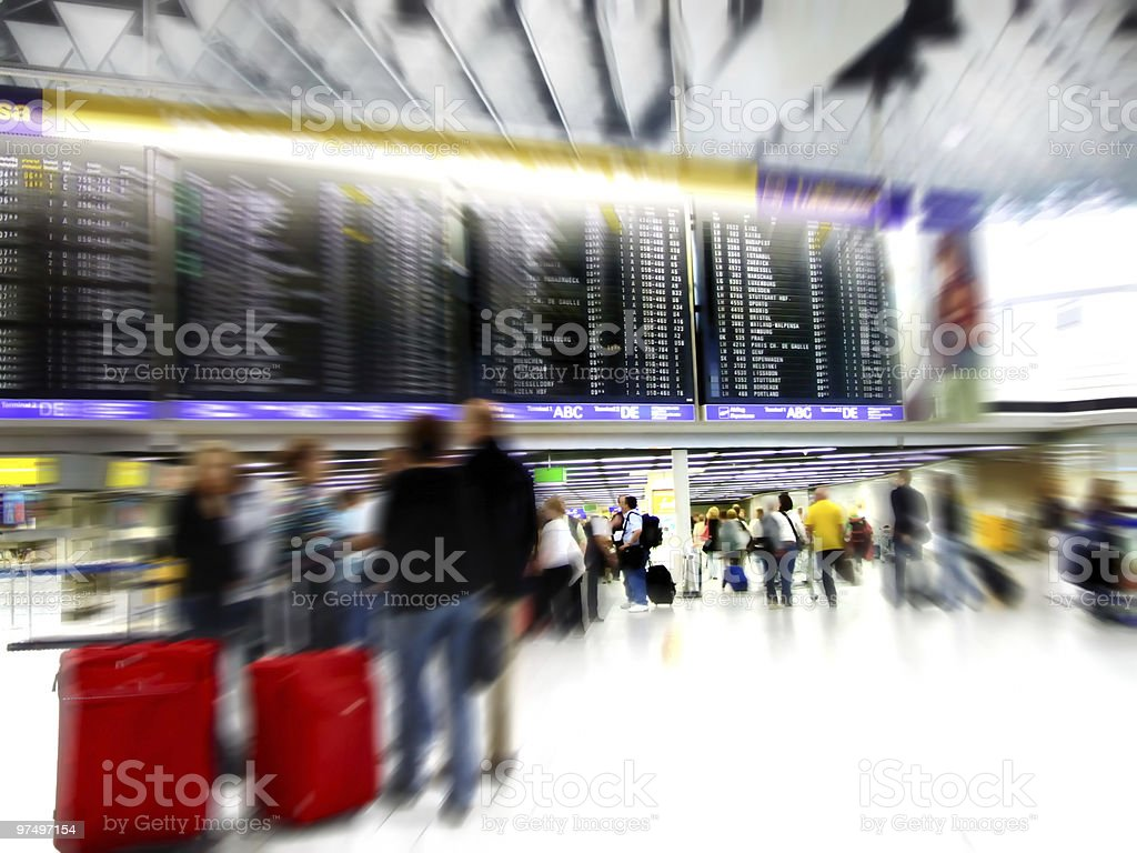Airport Crowd royalty-free stock photo
