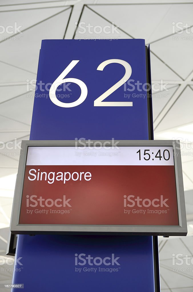 Airport Departure Display Panel royalty-free stock photo