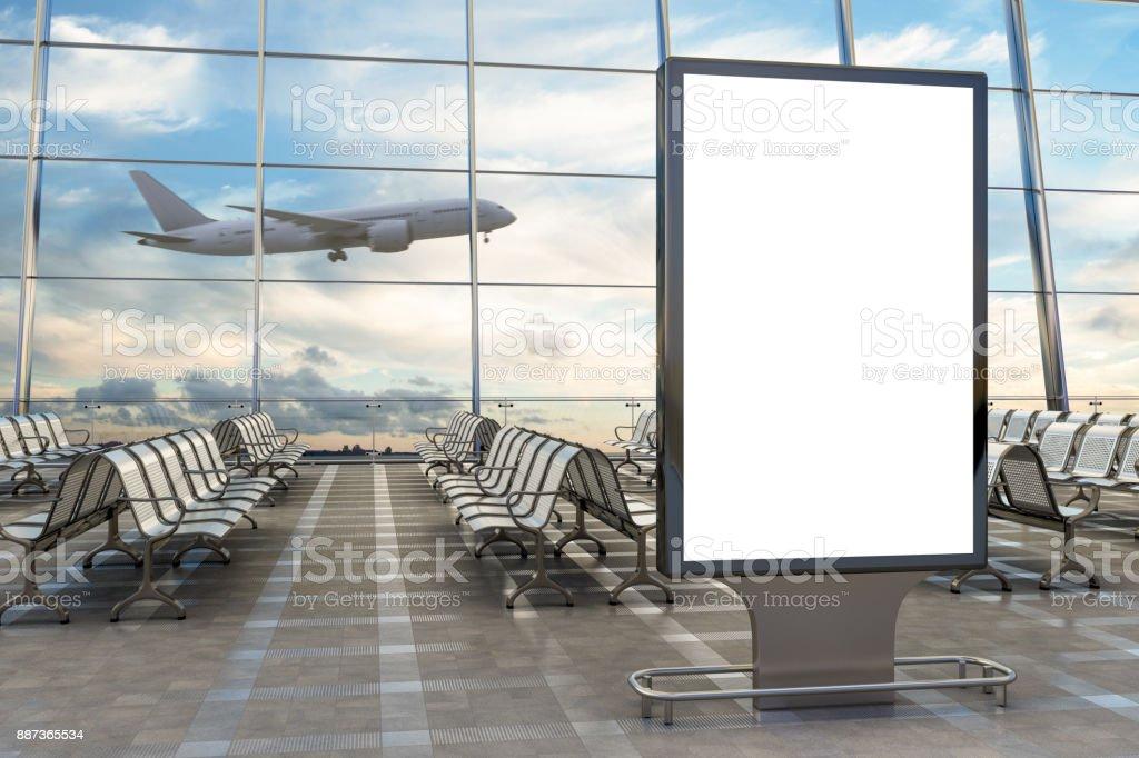 Salon de l'aéroport de départ - Photo
