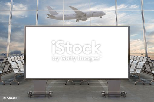 istock Airport departure lounge 957383512