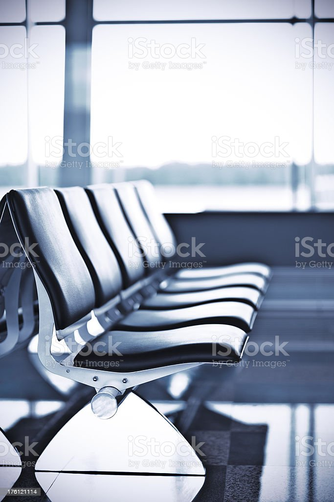 Airport departure terminal royalty-free stock photo