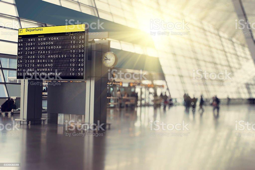 Flughafen Abreise Zeitplan – Foto