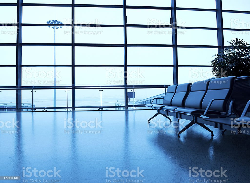 airport departure waiting area royalty-free stock photo