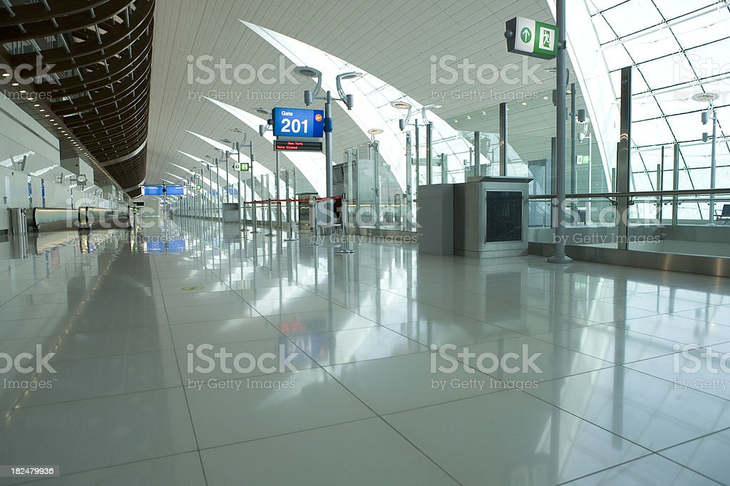 Airport Departures Gate royalty-free stock photo