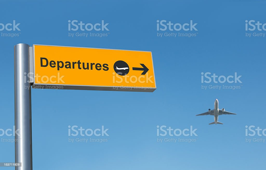 Airport departures - Royalty-free Air Pollution Stock Photo