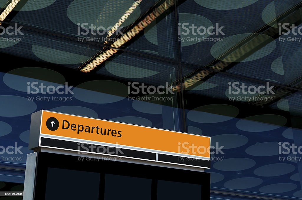 Airport Departures royalty-free stock photo