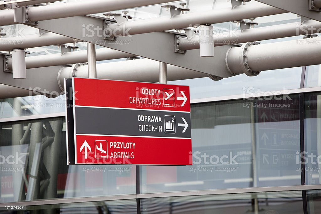 Airport Departures Sign XXXL royalty-free stock photo