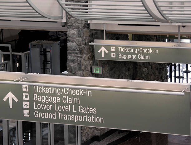 airport directions stock photo