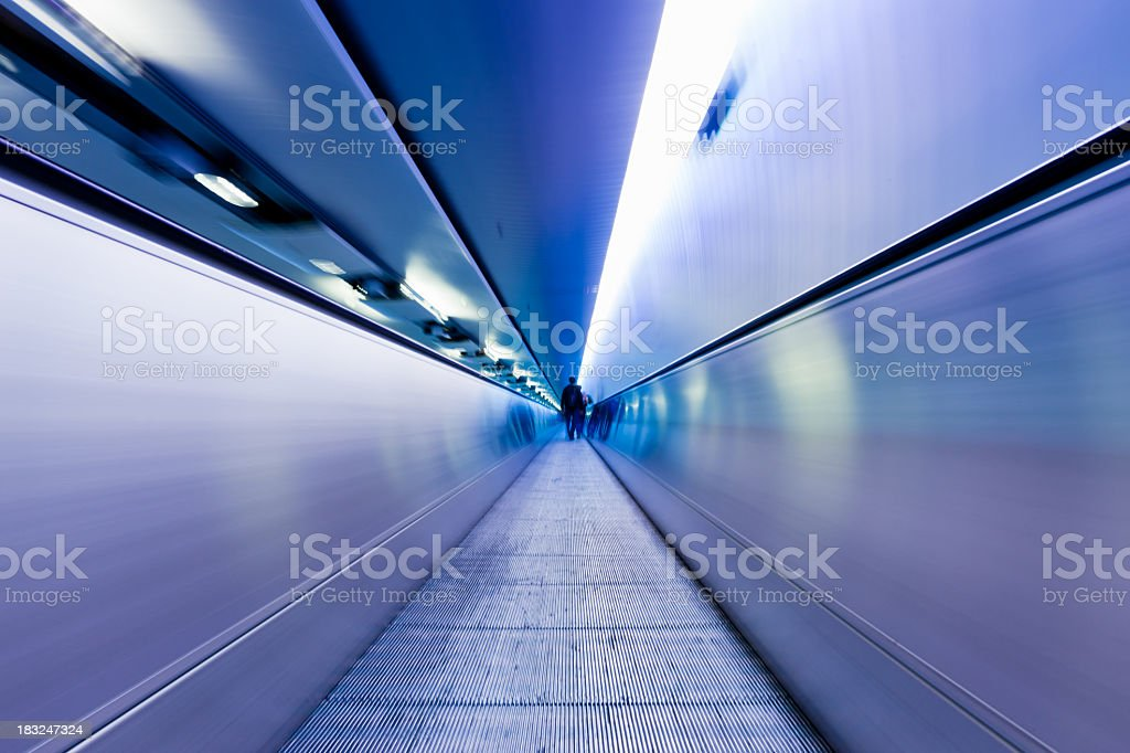Airport Elevated Walkway Tunnel royalty-free stock photo