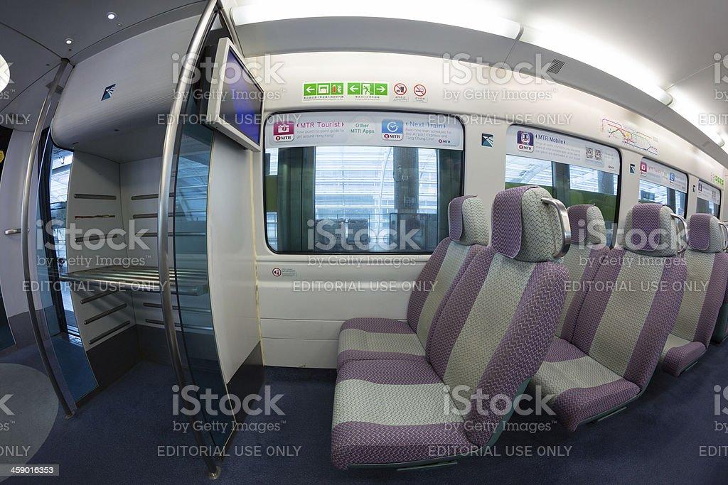 Airport Express Train in Hong Kong royalty-free stock photo