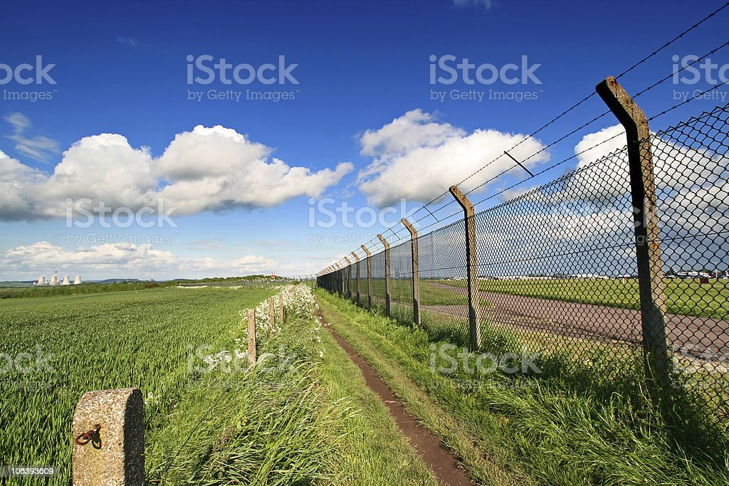 airport fence royalty-free stock photo