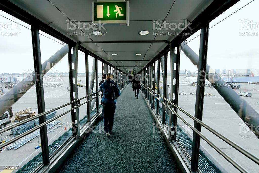 airport gate finger dock royalty-free stock photo
