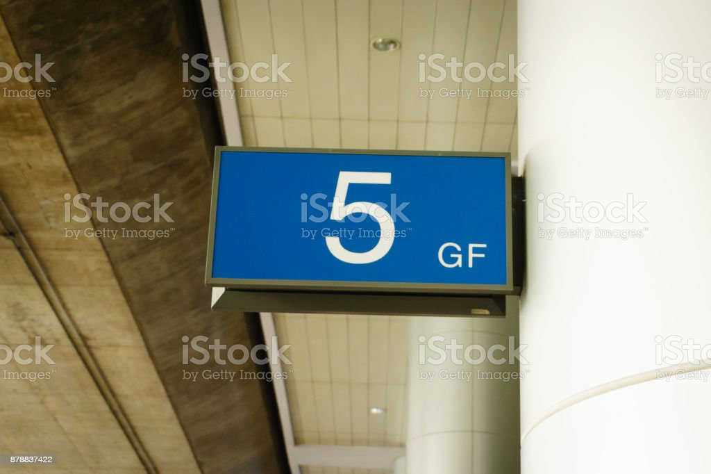 Airport gate stock photo